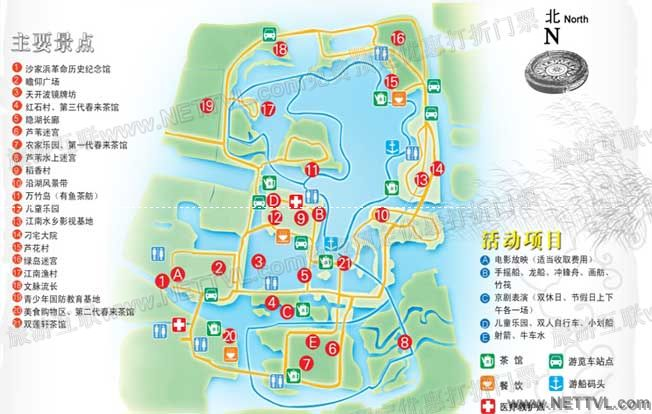 沙家浜地图(常熟沙家浜旅游地图