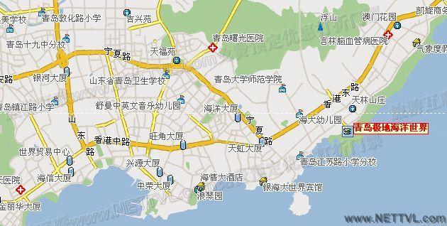 青岛极地海洋馆地图