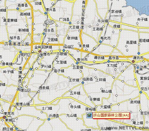 临朐沂山地图(沂山国家森林公园交通图 - 打印页