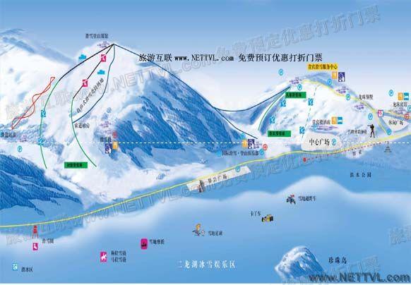 首页 旅游地图 景点导游图 黑龙江旅游景点地图 二龙山滑雪场地图