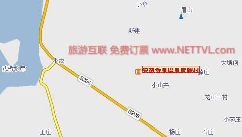 安徽和县香泉交通图_旅游地图【旅游互联】