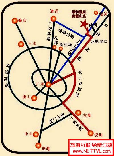 佛冈颐和温泉地图_清远颐和温泉交通地图【旅游互联】