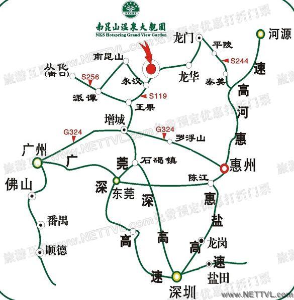 南昆山温泉大观园地图(南昆山温泉大观园交通图