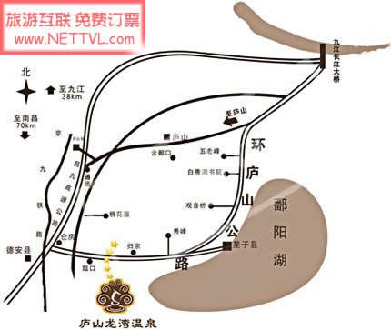 首页 旅游地图 景点交通图 江西旅游地图 庐山龙湾温泉地图(山龙湾
