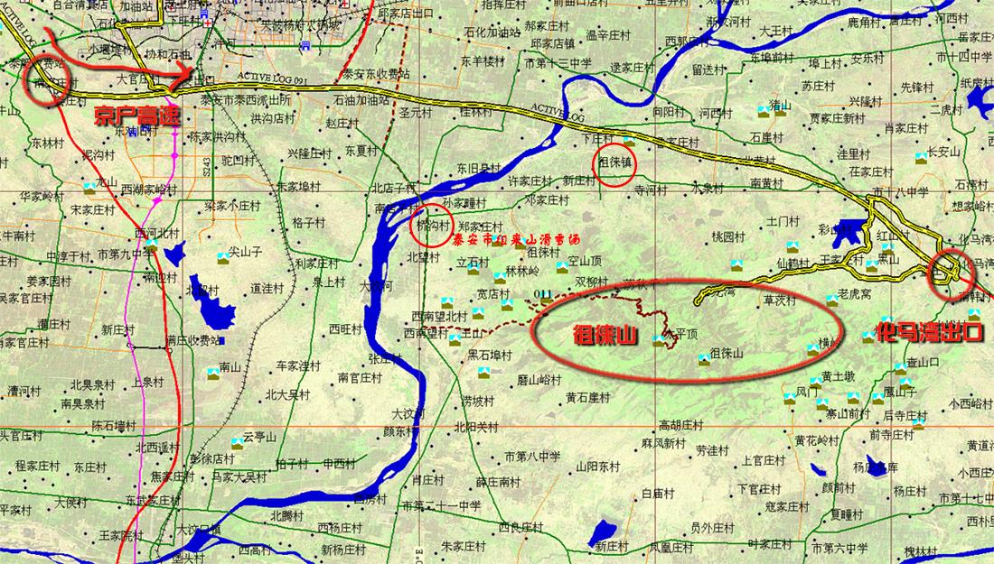 泰安徂徕山滑雪场地图_徂徕山滑雪场交通地图【旅游