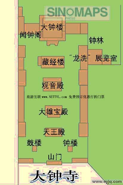 北京景点旅游地图展示