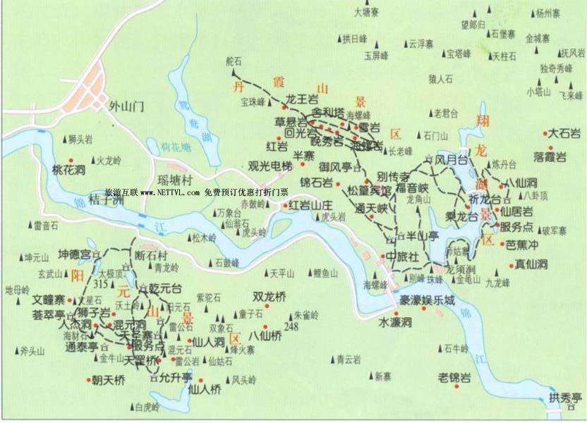 丹霞山地图