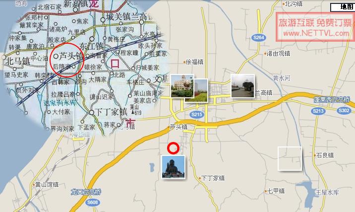 南山大佛地图(烟台龙口南山交通地图