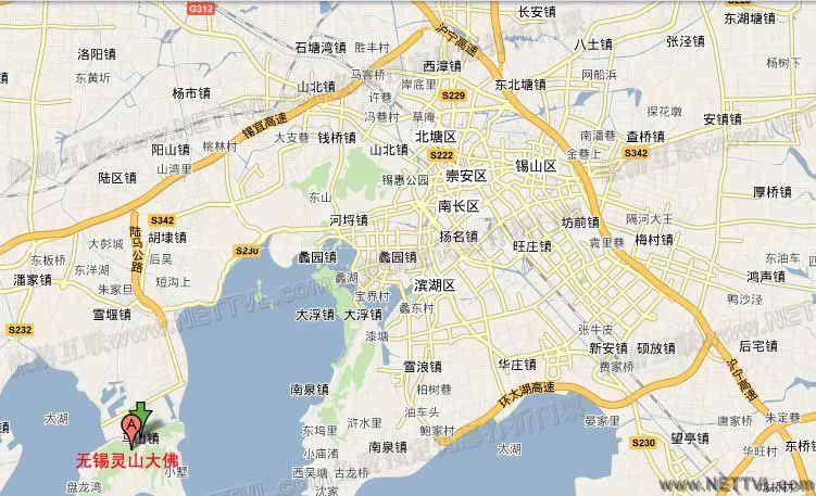 灵山大佛地图(无锡灵山大佛交通地图