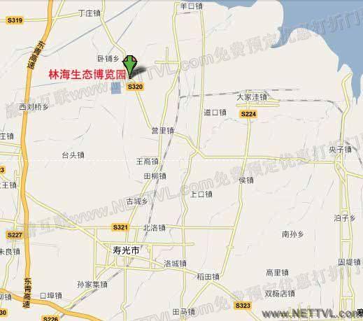 林海生态博览园地图(寿光林海生态博览园交通图