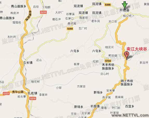 南江大峡谷地图(贵阳南江大峡谷交通地图