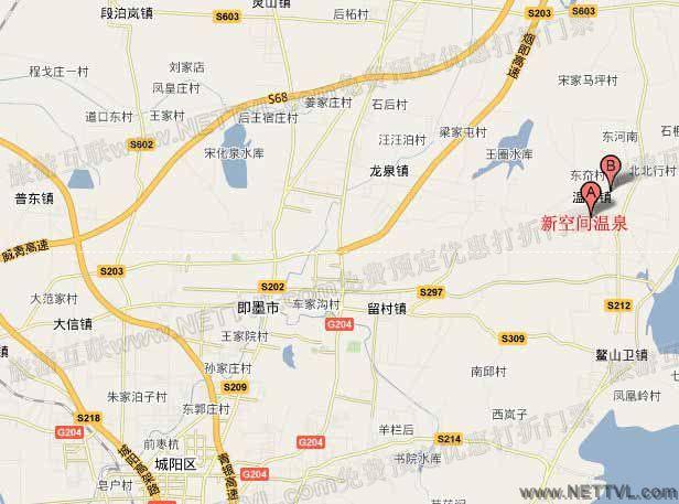 新空间温泉地图(青岛即墨新空间温泉交通图