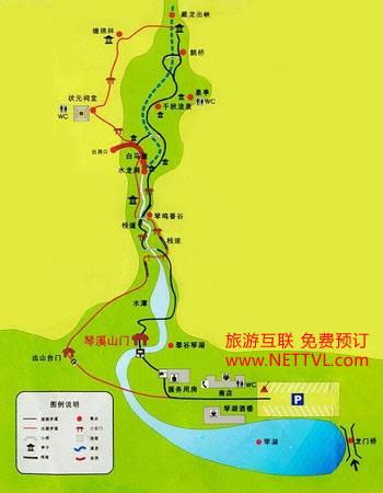 琴溪香谷导游图