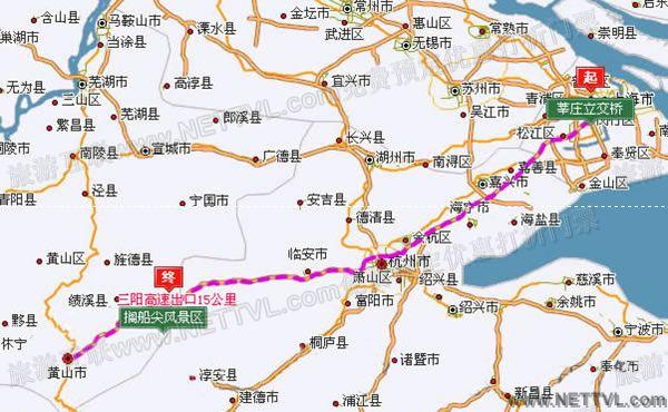 上海到搁船尖自驾车路线地图(搁船尖交通地图 - 打印