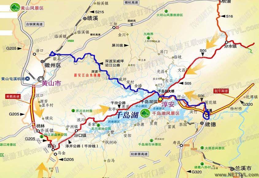 龙川湾湿地地图(千岛湖龙川湾湿地交通图