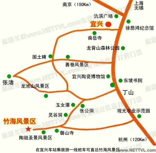 龙背山森林公园地图(宜兴龙背山交通地图