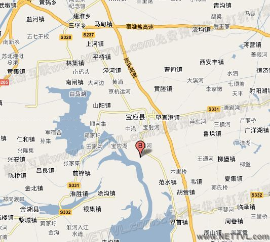白鹿岛地图(扬州宝应白鹿岛交通地图