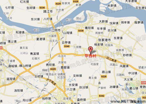 华西村地图(江阴华西村交通地图
