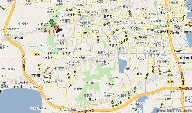 天平山地图_苏州天平山交通地图【旅游互联】
