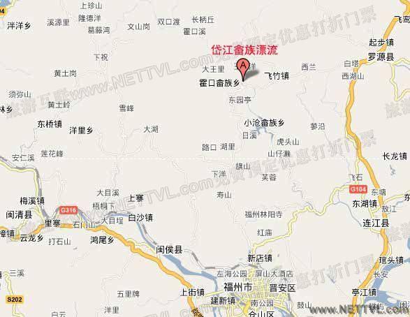 岱江漂流地图_罗源岱江畲族风情漂流交通图【旅游互联