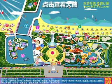 秦皇岛乐岛地图 乐岛海洋公园路线图