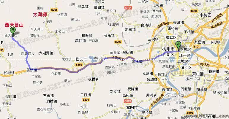 西天目山地图(临安西天目山交通图