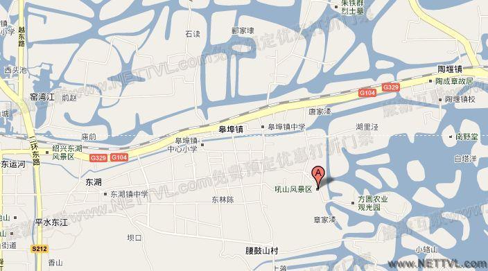 吼山地图 绍兴吼山交通地图 2017绍兴吼山旅游地图车.