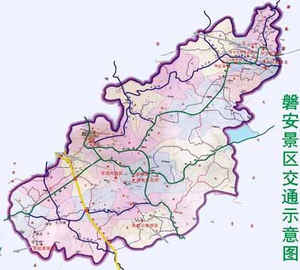 磐安旅游地图_磐安旅游景点分布图【旅游互联】