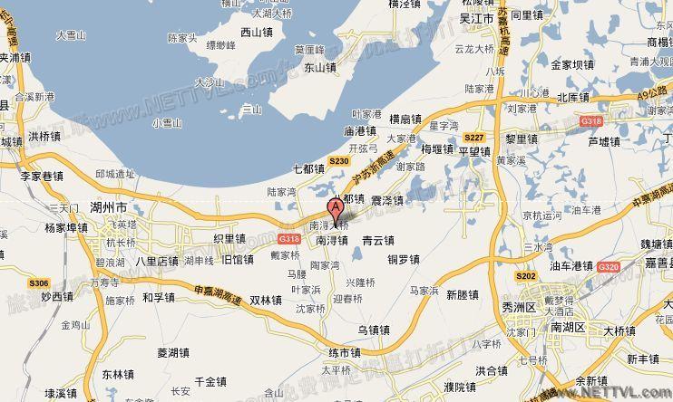 南浔地图 湖州南浔古镇交通图 2017浙江南浔旅游地图.