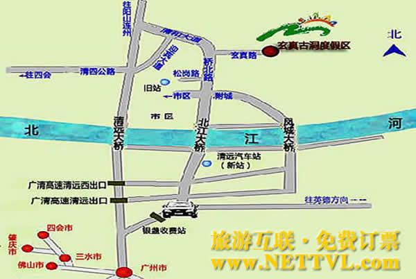 玄真漂流地图_清远玄真漂流交通地图【旅游互联】