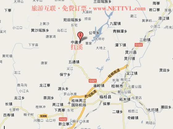 首页 旅游地图 景点交通图 广西旅游地图 桂林旅游地图 桂林红溪地图