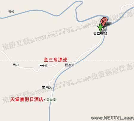金三角漂流地图(金寨天堂寨金三角漂流交通地图