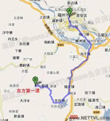 福清东方第一漂地图
