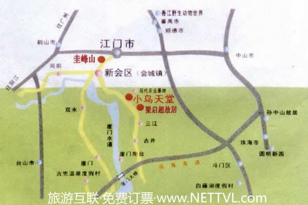 小鸟天堂地图(新会小鸟天堂交通图