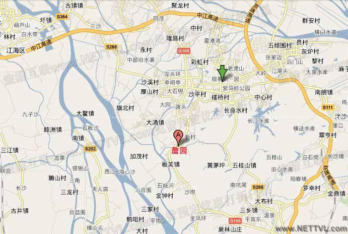 詹园地图(广东中山詹园交通地图