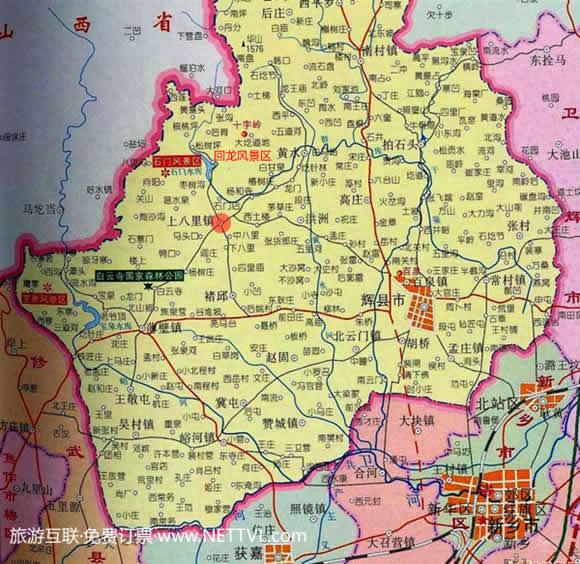 新乡回龙景区地图(辉县回龙景区交通图
