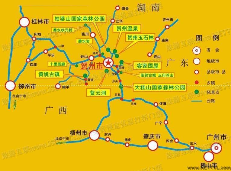 黄姚古镇地图