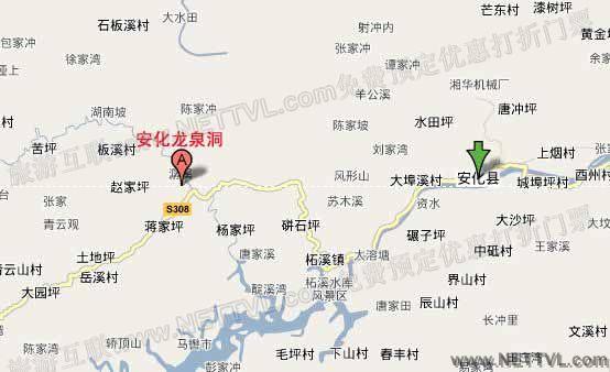 安化龙泉洞地图_益阳安化龙泉洞交通地图【旅游互联】
