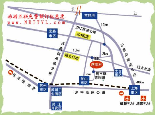 蒋巷村地图(常熟蒋巷村交通地图