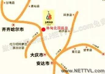 北国温泉地图_林甸北国温泉交通地图【旅游互联】