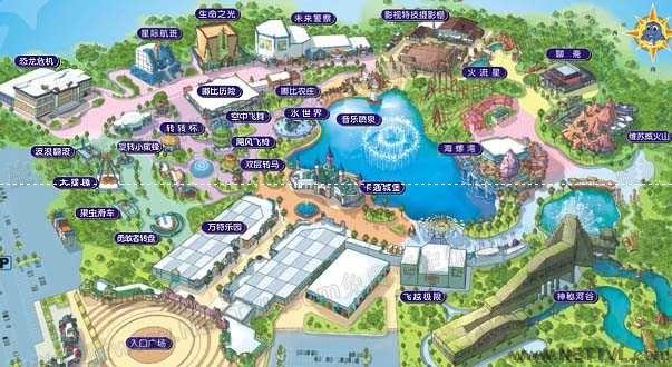 泰安方特地图(泰安方特游乐园导游图