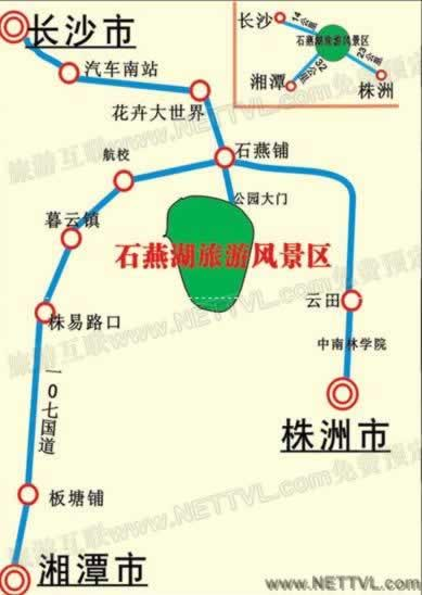 长沙石燕湖地图_旅游地图【旅游互联】