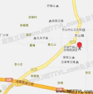 芒砀山地图(永城芒砀山交通地图