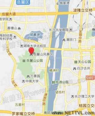 岳麓山鸟语林地图_长沙岳麓山鸟语林交通地图【旅游