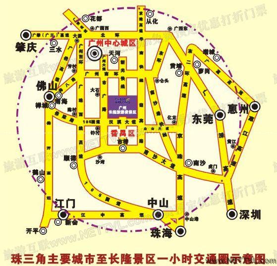 广州手绘地图儿童