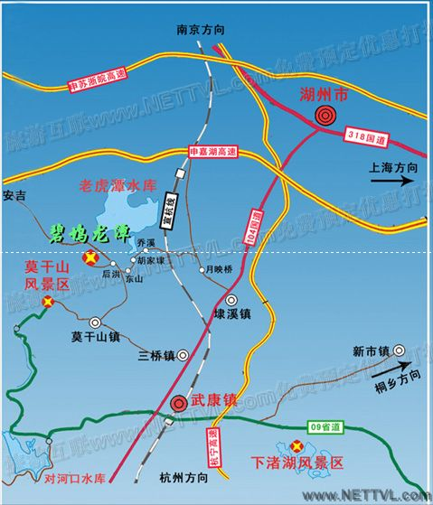 下渚湖地图_德清下渚湖湿地交通地图【旅游互联】