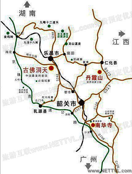 古佛岩风景区地图(韶关古佛洞天交通地图