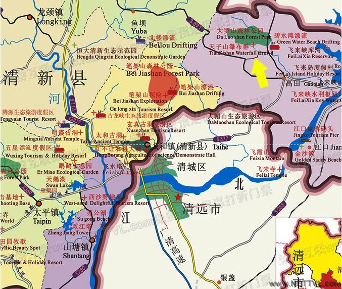 儿童手绘广州地图