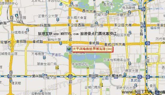 太平洋海底世界地图(北京太平洋海底世界交通地图