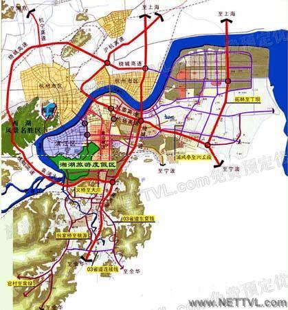 萧山湘湖地图